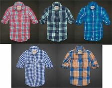 HOLLISTER BY ABERCROMBIE MENS LONG SLEEVE SHIRT BUTTON DOWN FRONT PLAID FLANNEL