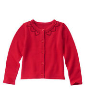 NWT Gymboree FUN AT HEART Size 7-8 Red Cardigan Sweater New