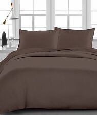 Chocolate Solid 100% Egyptian Cotton 1000 TC 35 Cm Drop 4 PCs Sheet Set