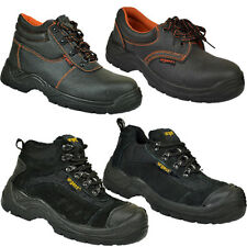 MEN SAFETY TRAINERS SHOES BOOT WORK STEEL TOE CAP HIKER ANKLE SIZE 4 -13UK BOOTS