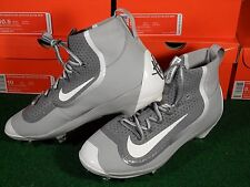 NIB Mens Nike Air Huarache 2kFilth Elite Mid Metal Baseball Cleats Gray White