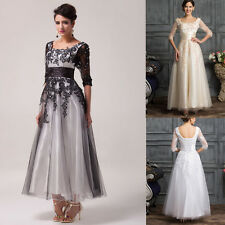 Vintage Formal Bridesmaid Cocktail Dress Long Evening Party Prom Gown Plus Size*