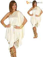 Ladies Greek Goddess Costume Adults Roman Grecian Toga Fancy Dress Womens Outfit