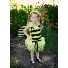 Halloween Yellow Black Petal Pettiskirt Tutu Tank Top Wings Headband Bee Costume