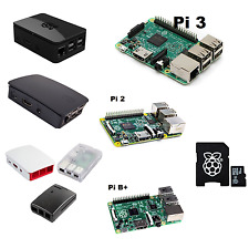 Raspberry Pi 3 Model B, Pi 2, B+ Black, White/ Pink, Clear Case. Noobs SD Kit