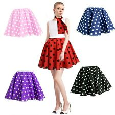 """New Women's Rock And Roll 50s 60s Skirt & Scarf Set Fancy Dress For Party-21"""" US"""