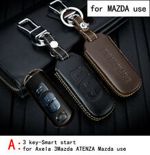 Real Leather CAR KEY CASE For MAZDA AXELA 3MAZDA ATENZA CX-5 CX-7 CX-4 MAZDA 2