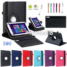 """Bluetooth Keyboard Rotate Leather Case Cover For Most 7.9"""" 8"""" Android Tablet MID"""