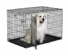 Dog Crate Midwest Double Door W/Divider Folding Metal  Pet Cage Kennel LARGE