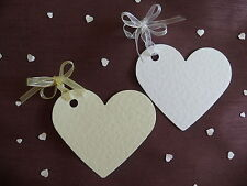 50 BEAUTIFUL HEART PLACECARDS/WISHING TREE /FAVOUR TAGS WITH OR WITHOUT RIBBON