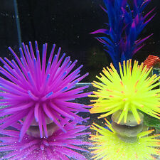 Silicone Aquarium Fish Tank Artificial Coral Plant Underwater Ornament Decor BB