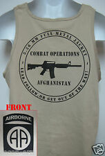 82nd AIRBORNE tank top T-SHIRT/ AFGHANISTAN COMBAT OPS / MILITARY/   NEW