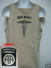 82nd AIRBORNE tank top T-SHIRT/ COMBAT/ MEDIC  / MILITARY/   NEW
