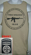 82nd AIRBORNE RANGER tank top T-SHIRT/ IRAQ COMBAT OPS  / MILITARY/   NEW