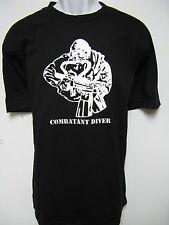 USMC RECON T-SHIRT/ MCD/ COMBAT DIVER/ NEW/ MILITARY/ front full size print only