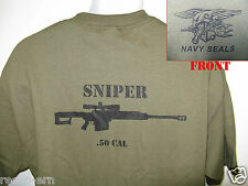 NAVY SEAL T-SHIRT/ .50 CAL SNIPER T-SHIRT/ NEW/ MILITARY