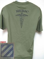 3RD ID T-SHIRT/ MEDIC/ COMBAT OPS/ MILITARY T-SHIRT/ ARMY/  NEW