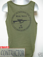 PRIVATE MILITARY CONTRACTOR TANK TOP/ OD GREEN/ M1A M14 / NEW