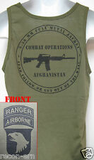 101ST AIRBORNE RANGER/ TANK TOP/ OD GREEN/ MILITARY/ AFGHANISTAN COMBAT OPS