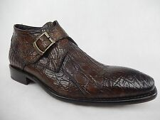 Calzoleria Toscana All Over Crocodile Monk Strap Shoes