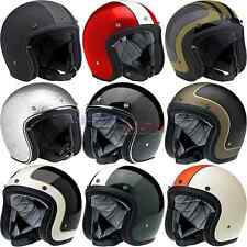 Biltwell Bonanza Helmet Open Face Scooter/Motorcycle Street DOT