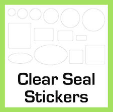 Gift Bag / Box Permanent Transparent Clear Security Seal Stickers Sticky Labels