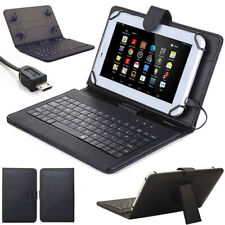 NEW Stand PU Leather Case Cover+Micro USB Keyboard For 7'' 8'' 10'' inch Tablet