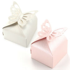 50pcs Butterfly Top Gift Candy Bomboniere Boxes Wedding Party Favor Box Gift