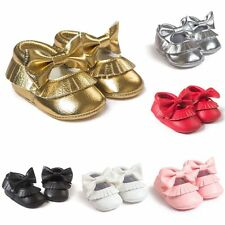 Kids Baby Girl Party Crib Shoes Soft Sole PU Leather Anti Slip Prewalker Shoes