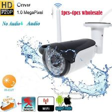 Wireless Wifi  HD 720P 1Mp IR Outdoor Network IP  Camera P2P ONVIF Waterproof
