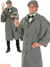 Adult Victorian Detective Costume Men Sherlock Holmes Fancy Dress History Outfit