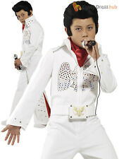 Childrens Elvis Costume Boys Pop Star Fancy Dress Rock n Roll King Outfit 1950s