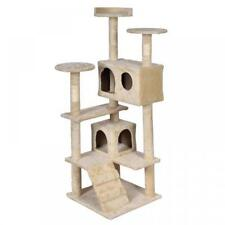 Cat Tree Tower Condo Furniture Scratch Post Kitty Pet House Toy Beige Brown Blue
