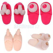 Novelty Willy Penis Boob Boobie Slipper Hen Party Fancy Dress Adult Shoes Decor