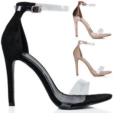 Womens Open Peep Toe Barely There High Heel Stiletto Sandals Pumps Shoes Sz 5-10