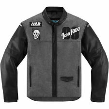 Icon Vigilante Stickup Jacket Sport-Riding Leather/Textile Skull Vented