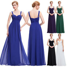 Long Lady Formal Evening Prom Party Bridesmaid Dresses Ball Gown Cocktail Dress