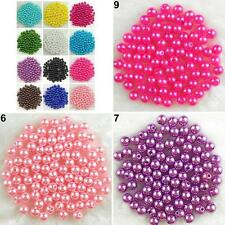 500Pcs Acrylic Round Pearl Spacer DIY Craft Jewelry Making Loose Beads Hot Sell