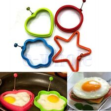 Silicone Omelette Pancake Poach Mould Ring Fried Egg Shaper Cooking Kitchen BE