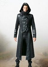 Steampunk Gothic Military Punk Rave Coat Jacket Hood Scorpion M L XL XXL XXXL