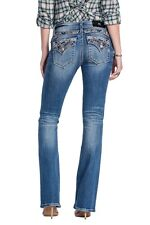 Miss Me Jeans Women's High Tide Paisley Swirl Medium Wash Boot Cut JP8835B