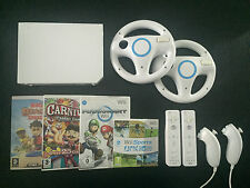 wii console + 37 games & activities + 2 remotes, mario kart, sports, beach, carn