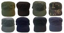Cadet Box Cap Army GI Military Vintage Cotton Fashion Castro  Hat Cap-