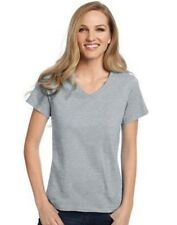 Hanes Relaxed Fit Womens ComfortSoft V-Neck T-Shirt  10 COLORS to CHOOSE S-3XL
