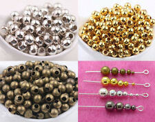 Silver Gold Pewter Gunmetal Plated Round Spacer Beads Jewelry Findings