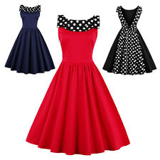 Vintage Style Womens 1950s Rockabilly Swing Formal Evening Party Cocktail Dress