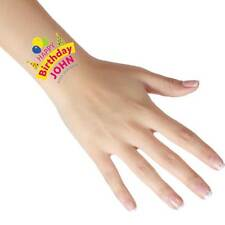 Personalised Happy Birthday Tattoos - Add Any Name/Text - Temporary Tattoos