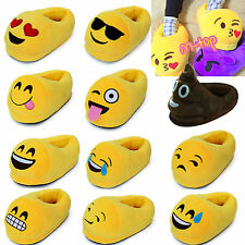 Womens Men Plush Stuffed Soft Indoor Slippers Shoes Cute 3D Emoji Winter Sandals