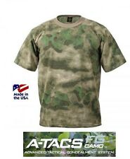 A-TACS FG Camo T-Shirt FOLIAGE GREEN Army MADE IN USA Paintball USMC ATACS SWAT