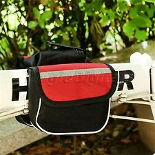Universal Bike Cycle Outdoor Front Basket Frame Tube Handlebar Bag Pouch Pannier